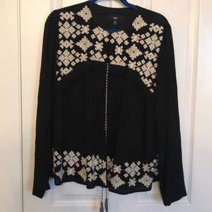 Embroidered Cotton gauze cardigan